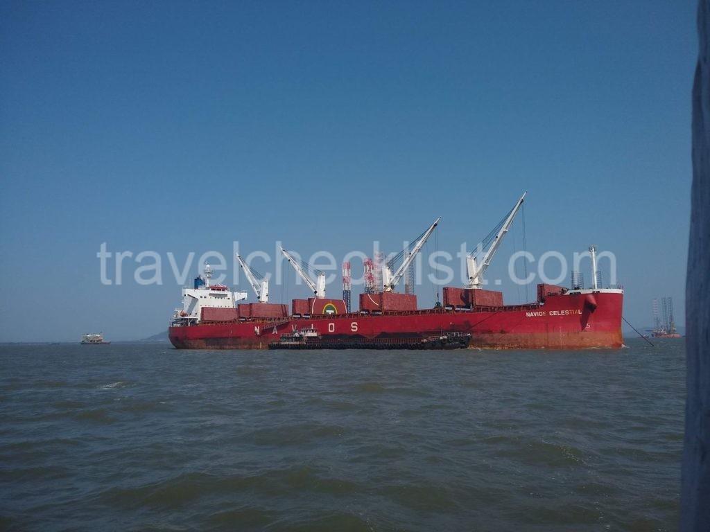 Ships enroute revdanda beach