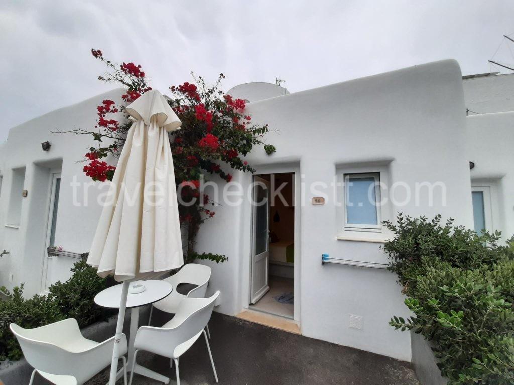 Santorini,Sunset Hotel-deluxe room with caldera view