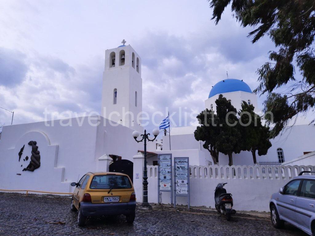 Virgin Marie Catholic Church Near Sunset Hotel ,Santorini