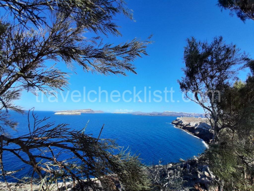 view from Akrotiri,Light house, Santorini