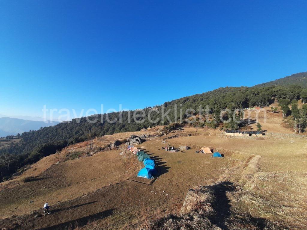 Base camp Nag tibba