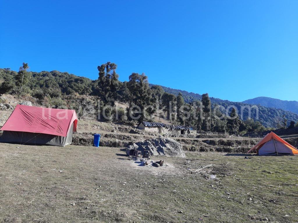 Camps at Nag tibba base camp