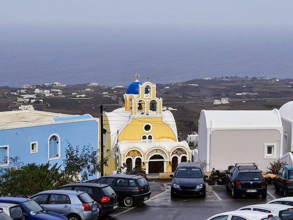 Santorini beautiful weather