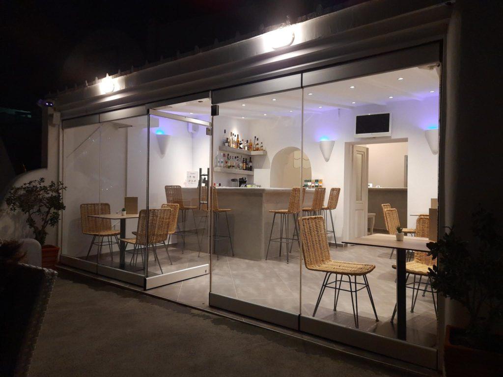 Sunset hotel , dining area- Santorini