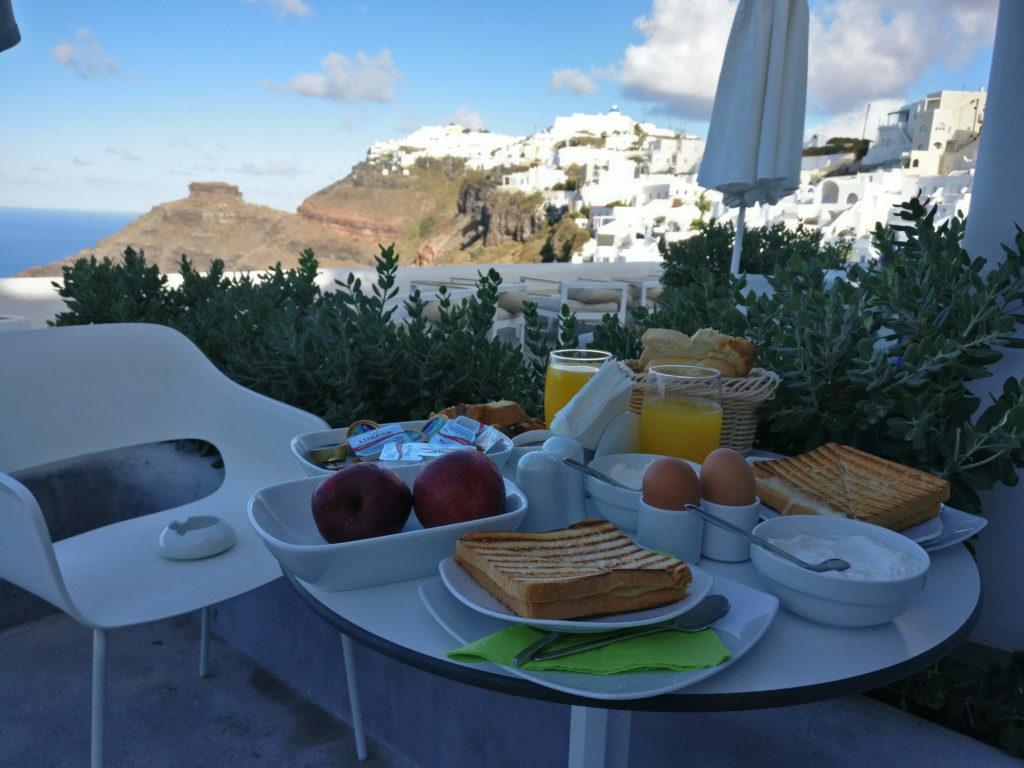 Breakfast at Sunset Hotel - Santorini