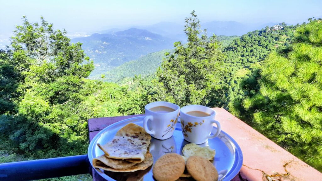 Workcation breakfast view