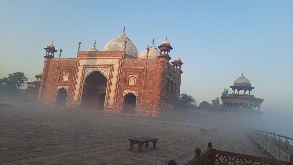 Taj Mahal , winter morning view