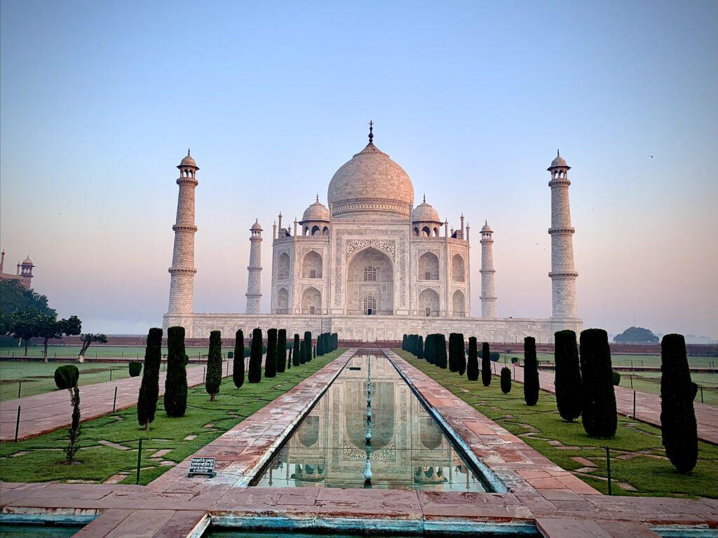 Taj Mahal early morning view