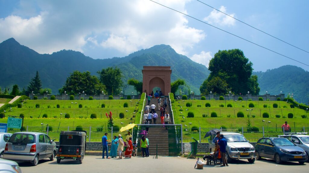 Summer view Nishat Bagh, Srinagar
