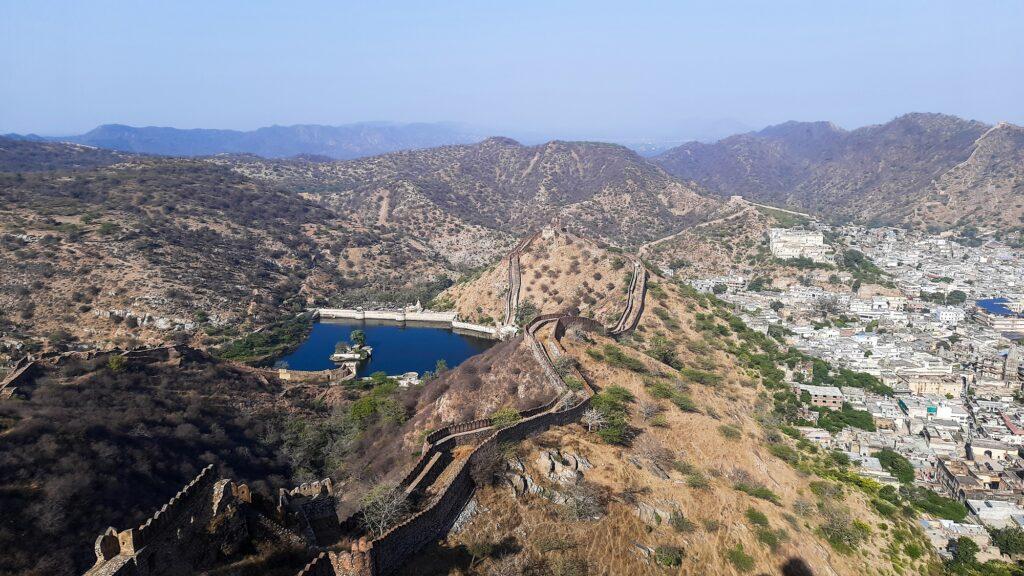 Jaigharh Fort overlooking city