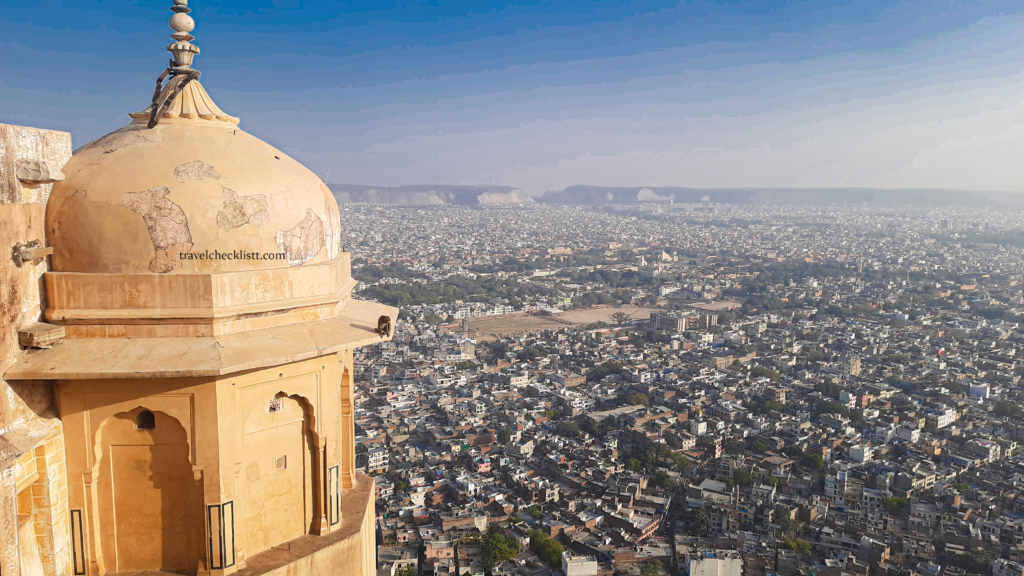 Jaipur city view from Nahargarh fort